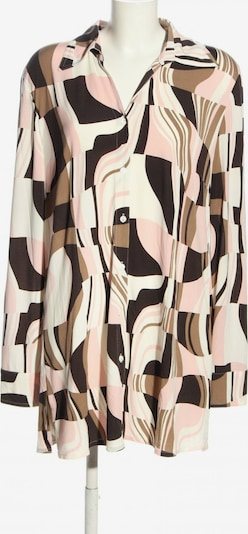 SAMOON Langarm-Bluse in XXL in braun / pink / weiß, Produktansicht