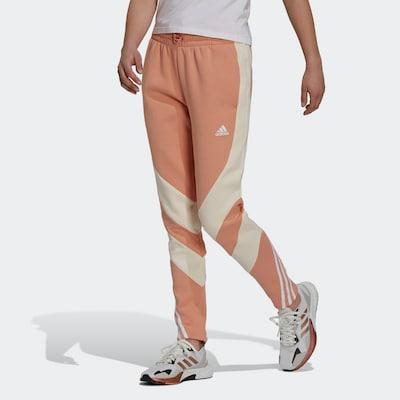 Pantaloni sport ADIDAS PERFORMANCE pe bej / portocaliu caisă / alb, Vizualizare model