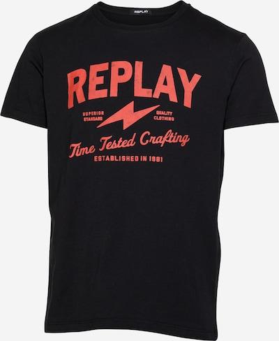 REPLAY T-Shirt in hellrot / schwarz, Produktansicht