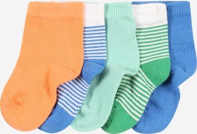 NAME IT Socken 'RALONO' in blau / grün / pfirsich / weiß, Produktansicht