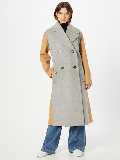 BOSS Between-Seasons Coat 'Caboka' in Beige / Silver grey, View model
