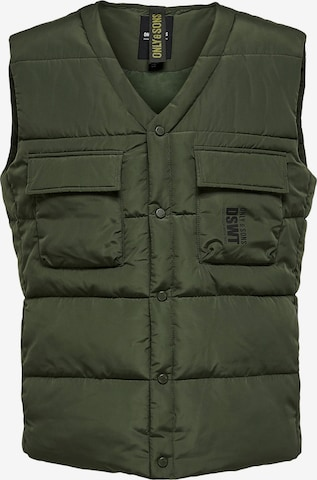 Only & Sons Vest 'Coleman' in Green