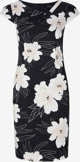 COMMA Kleid aus Baumwollsatin in blau / weiß, Produktansicht
