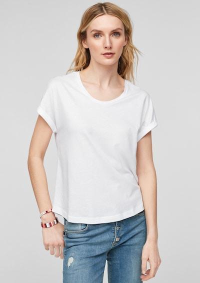 s.Oliver Shirt in de kleur Wit: Vooraanzicht