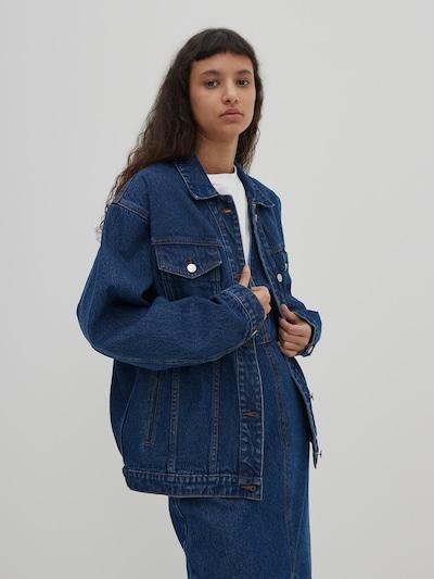 EDITED Prechodná bunda 'Hatti' - modrá denim, Model/-ka