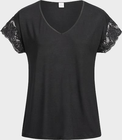 Erlich Textil Schlafshirt  'Nora' in schwarz: Frontalansicht