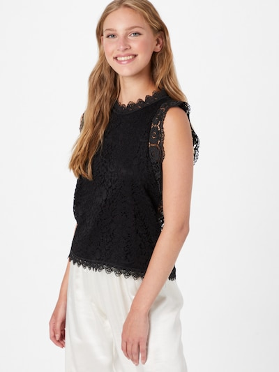 Hailys Bluse 'Kleo' in schwarz, Modelansicht