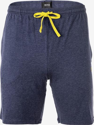 BOSS Casual Broek in de kleur Navy / Geel, Productweergave