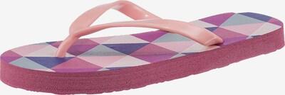 AquaWave Badelatschen in lila / pink / rosa / weiß, Produktansicht