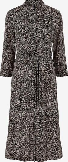 Rochie tip bluză PIECES pe negru / alb, Vizualizare produs