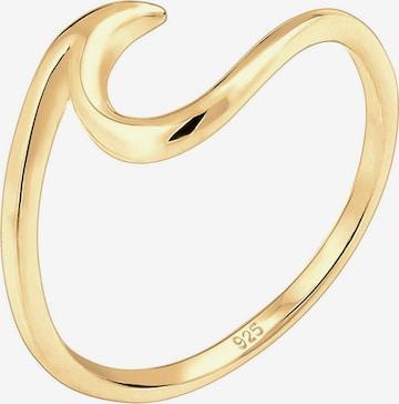 ELLI Ring 'Wellen' in Goud