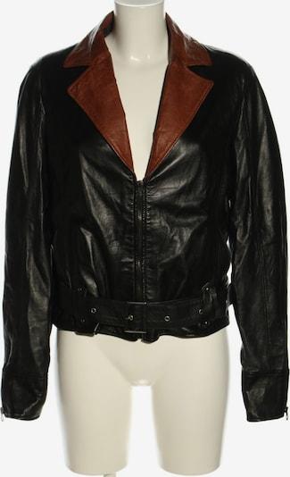 Vera Pelle Lederjacke in XL in braun / schwarz, Produktansicht