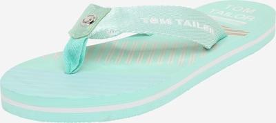TOM TAILOR Badelatschen in mint / weiß, Produktansicht