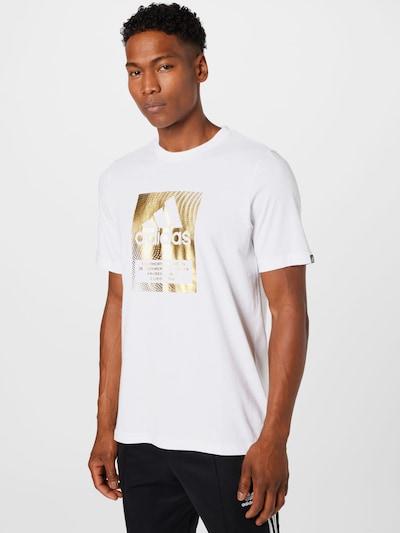 ADIDAS PERFORMANCE Функционална тениска в злато / бяло: Изглед отпред