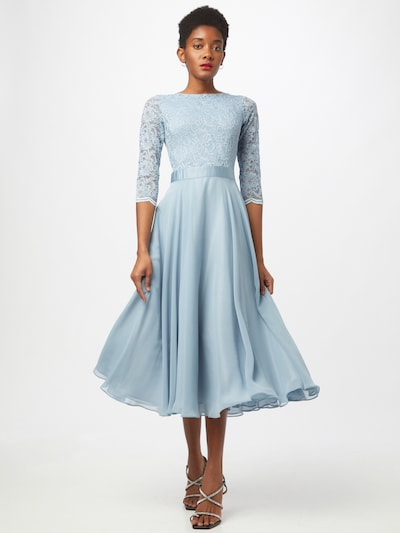 SWING Evening dress in Light blue: Frontal view