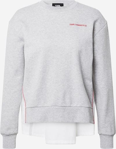 Karl Lagerfeld Sweatshirt in graumeliert / rot / weiß, Produktansicht