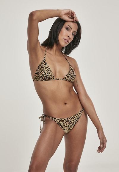 Urban Classics Bikini in gelb / senf / schwarz, Modelansicht