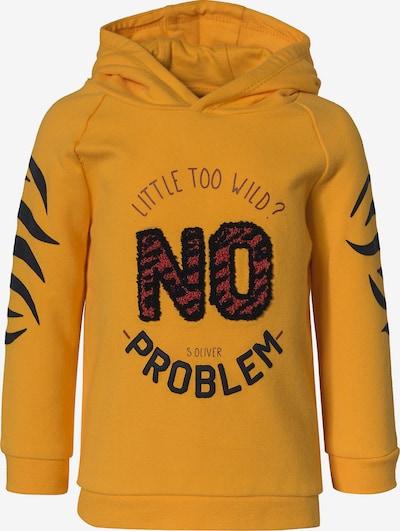 s.Oliver Sweater majica u žuta / crvena / crna, Pregled proizvoda