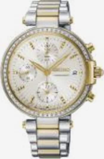 SEIKO Uhr 'SNDV42P1' in gold / silber / perlweiß, Produktansicht