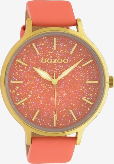OOZOO Armbanduhr in gold / orange, Produktansicht