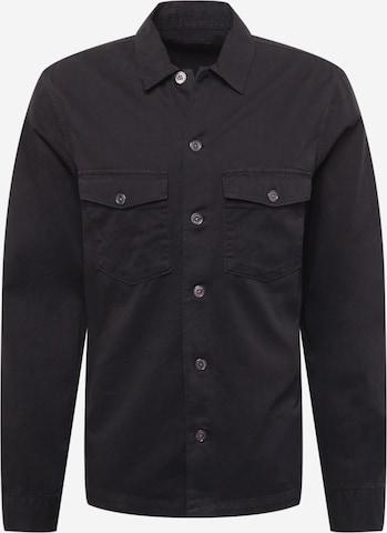 AllSaints Hemd in Schwarz