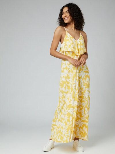 Guido Maria Kretschmer Collection Kleid 'Christina' in gelb / weiß, Modelansicht