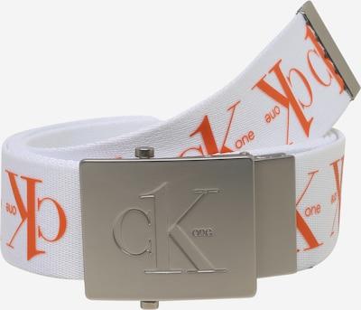 Calvin Klein Opasek - tmavě oranžová / bílá, Produkt