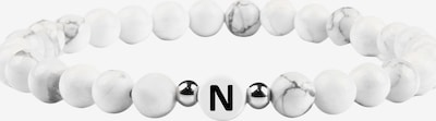 GOOD.designs Armband 'Ab-Weiss-N' in schwarz / weiß, Produktansicht
