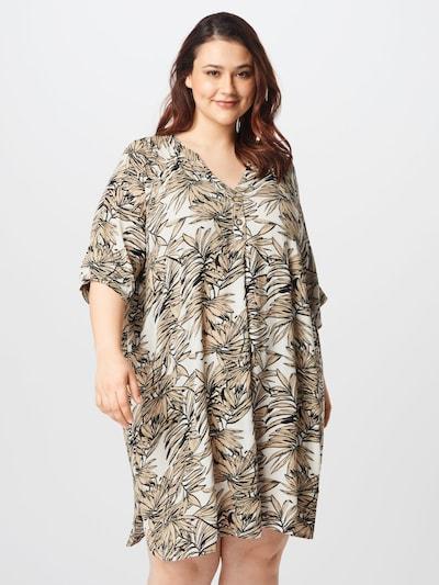 Rochie 'Lisa' KAFFE CURVE pe crem / nisipiu / negru, Vizualizare model