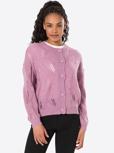 VILA Cardigan 'SOUTA' en violet, Vue avec modèle
