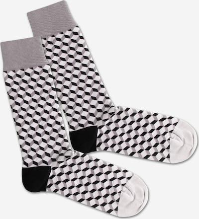 DillySocks Socken 'SS20-28 Concrete Dice' in grau / schwarz / weiß, Produktansicht