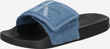 Calvin Klein Jeans Denim Slides in Blau