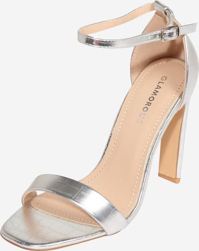 GLAMOROUS Sandale in silber, Produktansicht