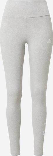 ADIDAS PERFORMANCE Pantalon de sport en gris chiné / blanc, Vue avec produit