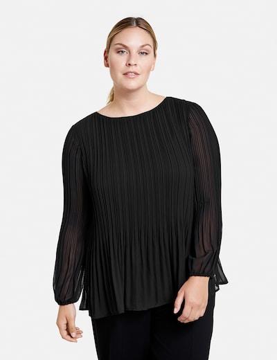 SAMOON Plisséebluse in schwarz, Modelansicht