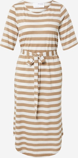 SELECTED FEMME Dress in Light brown / White, Item view