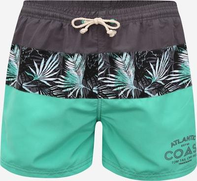 TOM TAILOR Plavecké šortky - šedobéžová / světle zelená, Produkt