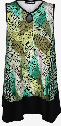 seeyou Tunika-Top mit Keyhole-Ausschnitt in mischfarben, Produktansicht