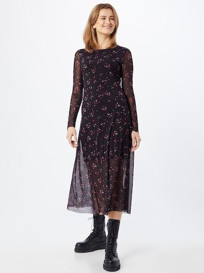 CATWALK JUNKIE Kleid in dunkelgrün / dunkelpink / schwarz / weiß, Modelansicht