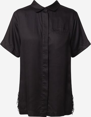 Underprotection Pajama Shirt 'Freya' in Black