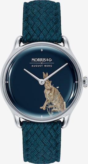 August Berg Analoog horloge 'MORRIS & CO Silver Indigo Perlon 30mm' in de kleur Blauw / Indigo / Zilver, Productweergave