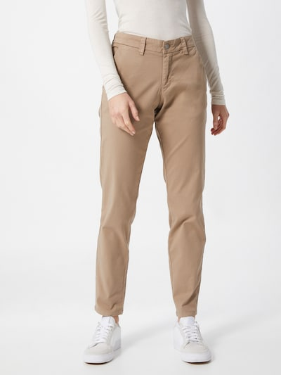 SELECTED FEMME Chino 'SLFMILEY' in de kleur Lichtbruin, Modelweergave