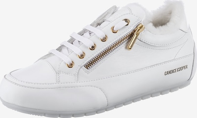 Candice Cooper Sneaker 'Rock Deluxe Zip Fur' in gold / weiß, Produktansicht