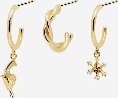 P D PAOLA Paar Ohrstecker 'Ranch Ohrringe Set' in gold, Produktansicht