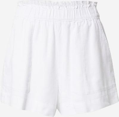 Pantaloni Abercrombie & Fitch pe alb, Vizualizare produs