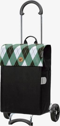 Andersen Shopper Einkaufstrolley 'Anea' in grün / tanne / weiß, Produktansicht