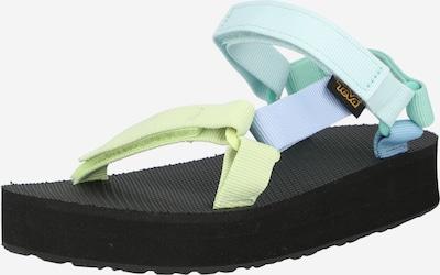 TEVA Open schoenen in de kleur Lichtblauw / Lichtgeel / Mintgroen / Zwart, Productweergave