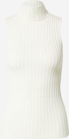Top brodat 'Franco' NORR pe alb murdar, Vizualizare produs