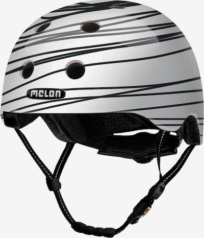 Melon Helm 'Scribble' in schwarz / weiß, Produktansicht