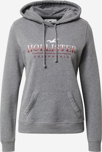 HOLLISTER Mikina - šedý melír / pastelově červená / tmavě červená / bílá, Produkt